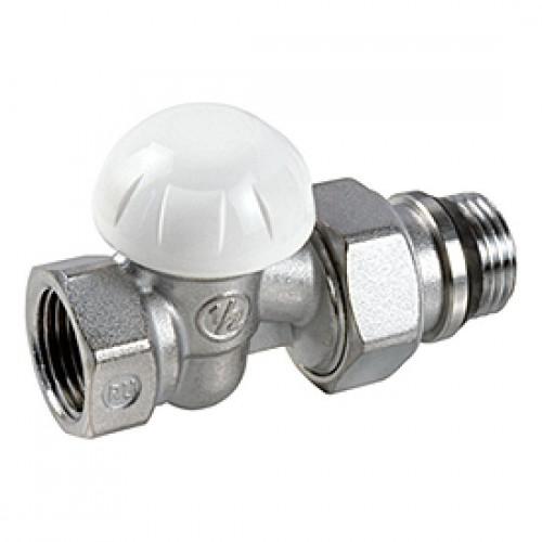 Клапан запорный для радиатора R15TG Ду 10 Ру16 ВР прямой штуцер с герметичной прокладкой Giacomini R15X032