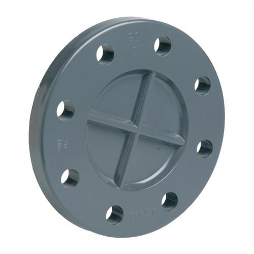Заглушка ПВХ серый Дн 75 Ру10/16 фланцевая EFFAST RDRFCD0750