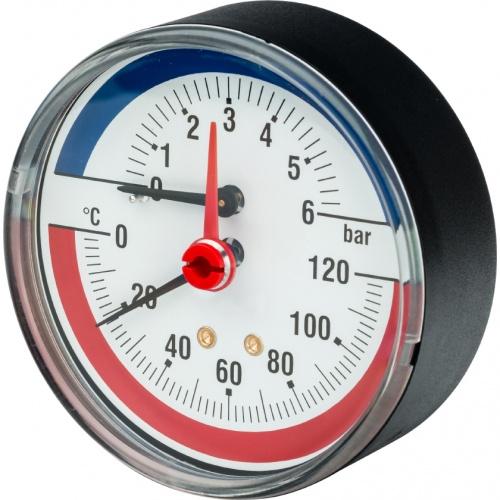 Термоманометр R226 осевой Дк80 6 бар L=25мм G1/2' 120С Giacomini R226Y002