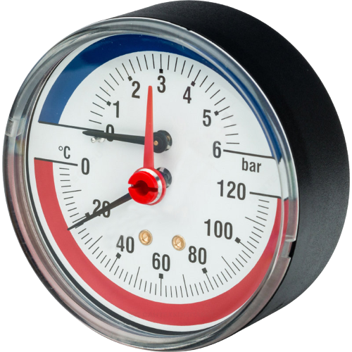 Термоманометр R226 осевой Дк80 4 бар L=25мм G1/2' 120С Giacomini R226Y001