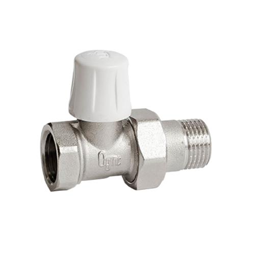 Клапан запорный для радиатора Ду 15 Ру10 ВР прямой Ogint