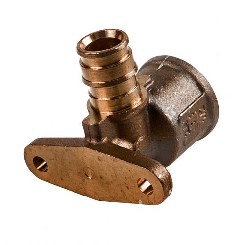 Водорозетка для PE-X латунь Smart Aqua Q&E Дн 20х1/2' ВР с фланцем l=43мм Uponor 1023035 (1008822)