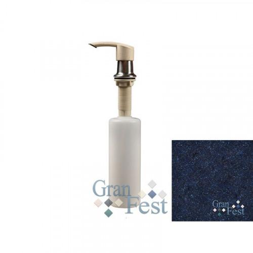 Дозатор GranFest 001 Плоский с колбой 250 мл. цвет Синий 323