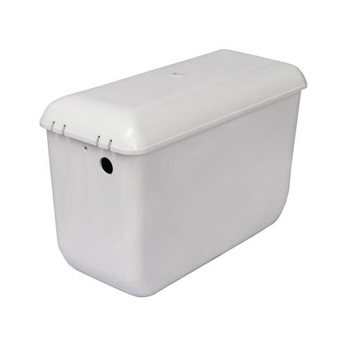 Бачок пластиковый для унитаза высокорасположенный белый боковой подвод в комплекте