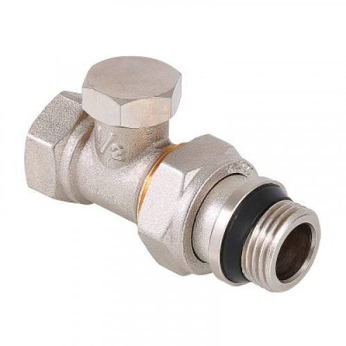 Клапан настроечный (запорный) прямой 1/2 с доп.упл. VT.020.NR.04
