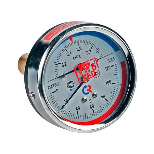 Термоманометр ТМТБ-31T.3 осевой Дк80 0,6МПа L=100мм G1/2' 120С Росма 00000002304