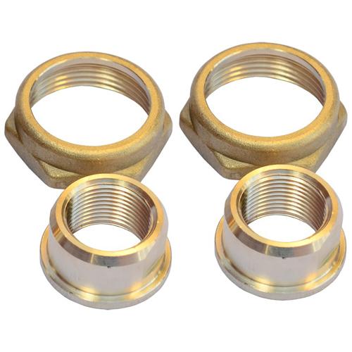 Детали присоединительные латунь Ду25 G 1 1/2'x18 мм под пайку (комплект) для циркуляционных насосов Grundfos 529977