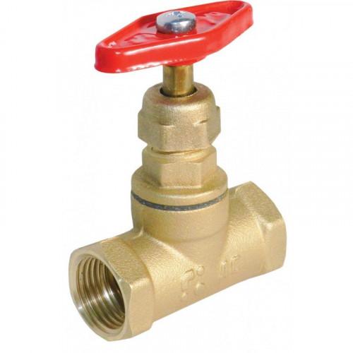 Клапан запорный латунь 15б1п Ду 32 Ру25 ВР прямой БАЗ А200мм