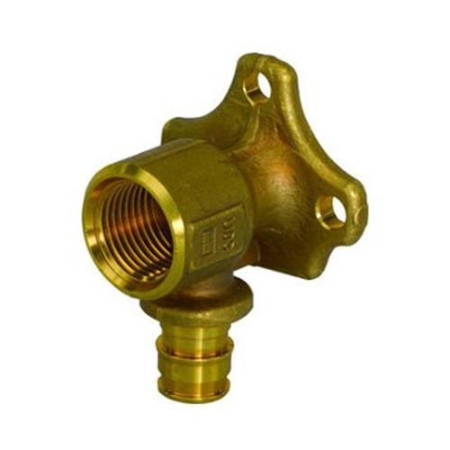 Водорозетка для PE-X латунь Smart Aqua Q&E Дн 16х1/2' ВР с фланцем Uponor 1059822