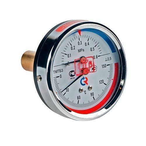 Термоманометр ТМТБ-31Т.1 осевой Дк80 1,6МПа L=46мм G1/2' 120С Росма 00000002291