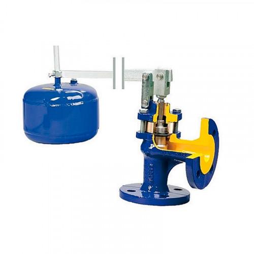 Клапан поплавковый прямой чугун 274 Ду 100 Ру16 фл полнопроходной поплавок Zetkama 274A100B16
