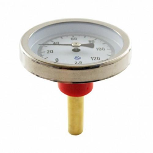 Термометр биметаллический 120°C L=60 (50)