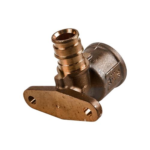 Водорозетка для PE-X латунь Smart Aqua Q&E Дн 16х1/2' ВР с фланцем l=49мм Uponor 1047936
