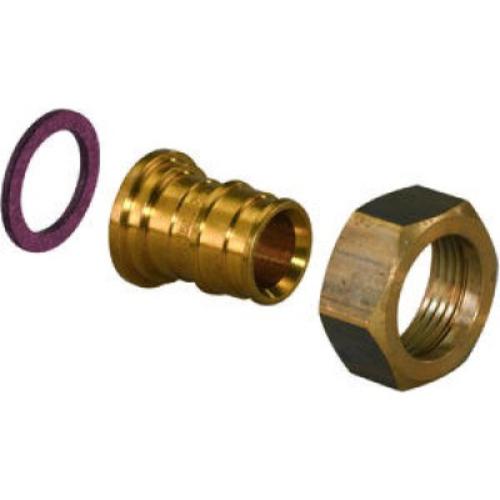 Штуцер для PE-X латунь Q&E Дн 25х3/4' с накидной гайкой Uponor 1023017 (1008758)