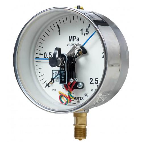 Вакуумметры, мановакуумметры, манометры электроконтактные пылевлагозащищенные ДВ2005ф, ДА2005ф, ДМ2005ф IP54(IP65)