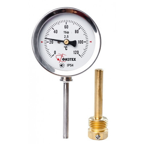 Общетехнические биметаллические термометры ТБф-120 d.63