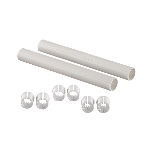 Гильза защитная для PE-X пластик белая Дн 16 стопоры для труб L=200мм Uponor 1023176