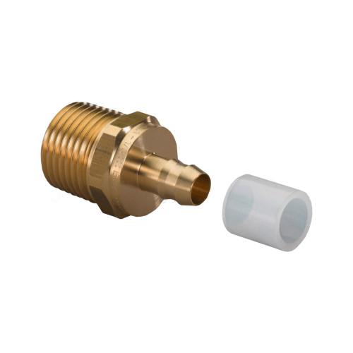 Штуцер для PE-X латунь Minitec Дн 9,9х1/2' НР в/к кольцо Uponor 1005265