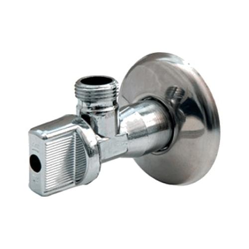 Кран шаровой латунный бытовой хром угловой R613 G1/2' НР Giacomini R613X003
